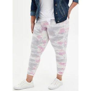🆕 Tie Dye Multi Crop Premium Legging 2X 18 20 NWT